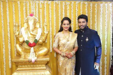 நடிகை சுஜா வருணி மற்றும் சிவாஜி தேவ் திருமண வரவேற்ப்பு புகைப்படங்கள்